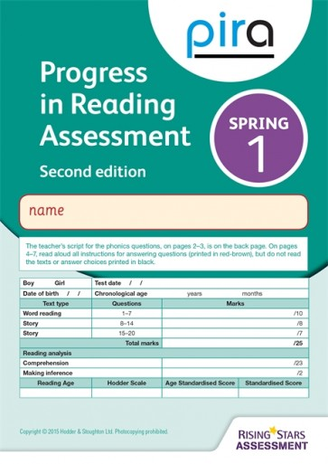 PiRA Test 1, Spring Pack 10 - 2ED (Progress in Reading Assessment)