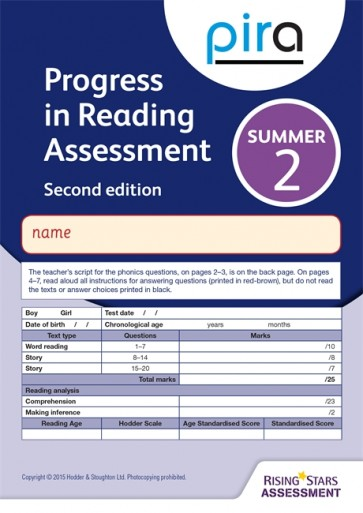 PiRA Test 2, Summer Pack 10 - 2ED (Progress in Reading Assessment)