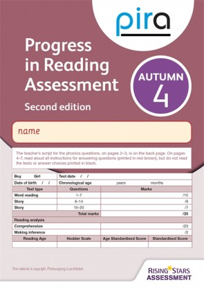 PiRA Test 4, Autumn Pack 10 - 2ED (Progress in Reading Assessment)