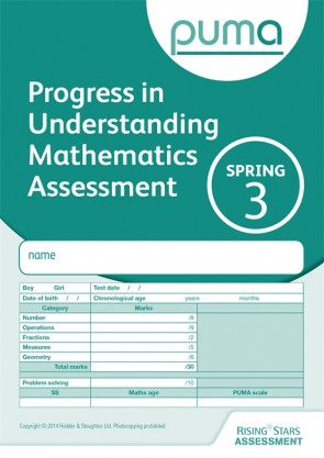 PUMA Test 3, Spring PK10 (Progress in Understanding Mathematics Assessment)