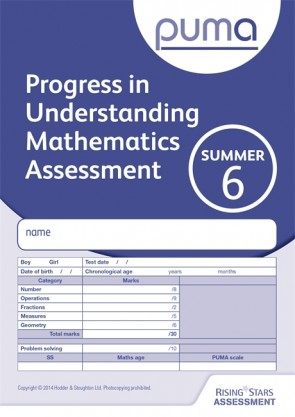 PUMA Test 6, Summer PK10 (Progress in Understanding Mathematics Assessment)