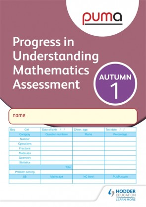 PUMA Test 1, Autumn PK10 (Progress in Understanding Mathematics Assessment)
