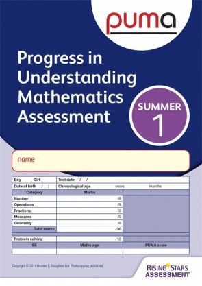 PUMA Test 1, Summer PK10 (Progress in Understanding Mathematics Assessment)