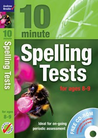 10 Minute Spelling Tests for ages 8-9