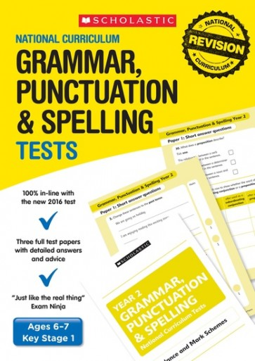 National Curriculum Tests: Grammar, Punctuation and Spelling Tests (Year 2) x 6