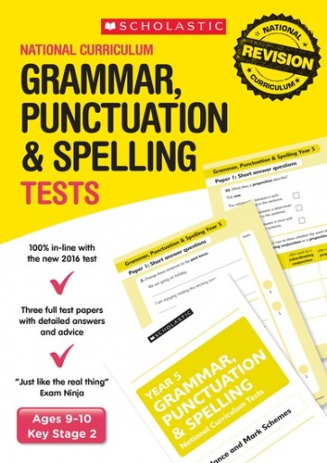 National Curriculum Tests: Grammar, Punctuation and Spelling Tests (Year 5) x 6