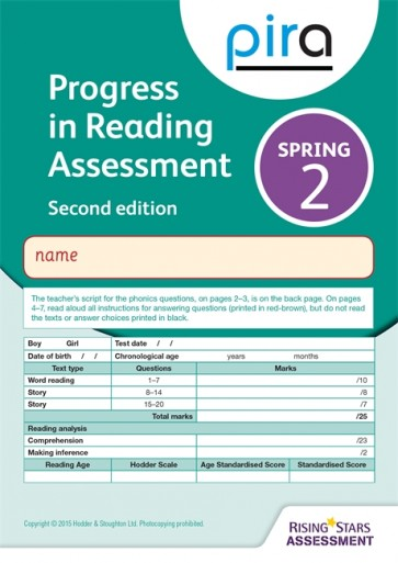 PiRA Test 2, Spring Pack 10 - 2ED (Progress in Reading Assessment)