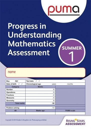 PUMA Test 1, Summer PK10 (Progress in Understanding Mathematics Assessment)