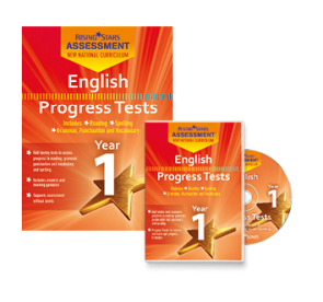 New Curriculum Assessment English Progress Tests Y1 book/CD-ROM pack