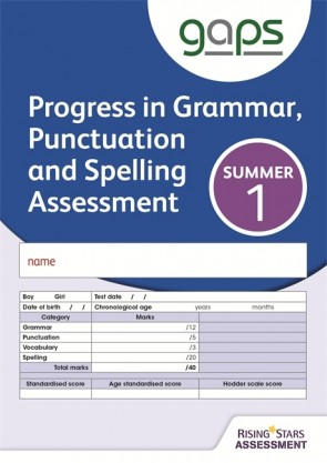 GAPS Test 1, Summer Pack 10 (Progress in Grammar, Punctuation and Spelling Assessment)