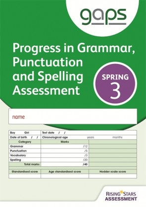 GAPS Test 3, Spring Pack 10 (Progress in Grammar, Punctuation and Spelling Assessment)