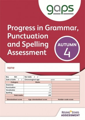 GAPS Test 4, Autumn Pack 10 (Progress in Grammar, Punctuation and Spelling Assessment)
