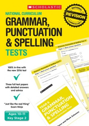 National Curriculum Tests: Grammar, Punctuation and Spelling Tests (Year 6) x 30