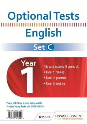 Optional Tests SET C English Year 1 Pupil Pack (15 copies)