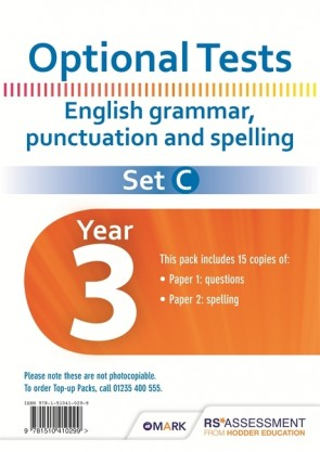 Optional Tests SET C Grammar, Punctuation & Spelling Year 3 Pupil Pack (15 copies)