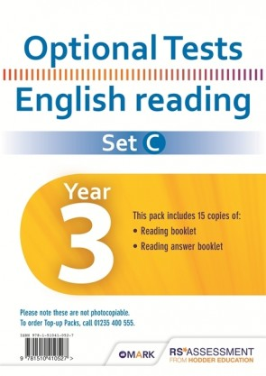 Optional Tests SET C Reading Year 3 Pupil Pack (15 copies)