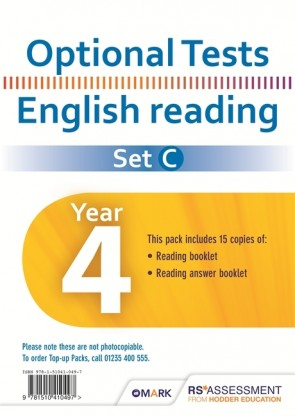 Optional Tests SET C Reading Year 4 Pupil Pack (15 copies)
