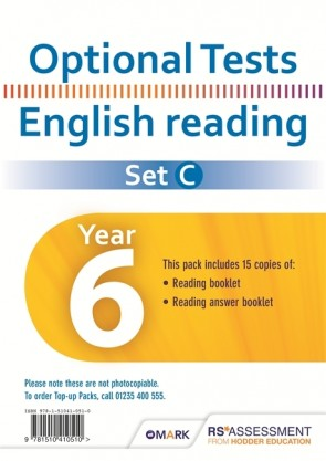 Optional Tests SET C Reading Year 6 Pupil Pack (15 copies)