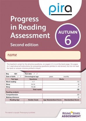 PiRA Test 6, Autumn Pack 10 - 2ED (Progress in Reading Assessment)