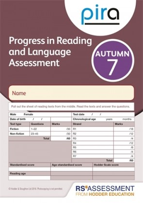 PiRA Test 7, Autumn PK 10 (Progress in Reading and Language Assessment)