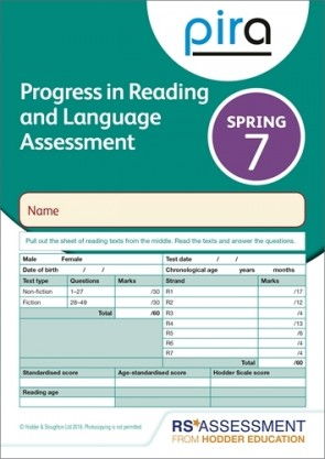 PiRA Test 7, Spring PK 10 (Progress in Reading and Language Assessment)