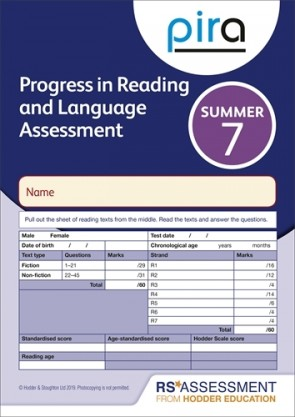 PiRA Test 7, Summer PK 10 (Progress in Reading and Language Assessment)