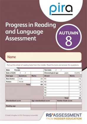 PiRA Test 8, Autumn PK 10 (Progress in Reading and Language Assessment)