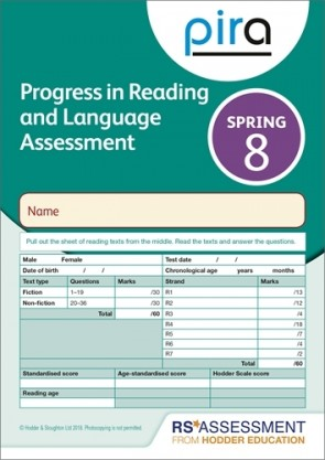PiRA Test 8, Spring PK 10 (Progress in Reading and Language Assessment)