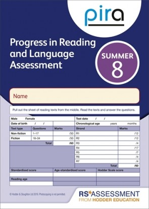 PiRA Test 8, Summer PK 10 (Progress in Reading and Language Assessment)