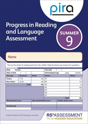 PiRA Test 9, Summer PK10 (Progress in Reading and Language Assessment)