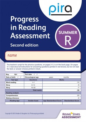 PIRA Test R, Summer Pack 10 - 2ED (Progress in Reading Assessment)