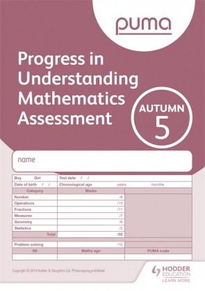PUMA Test 5, Autumn PK10 (Progress in Understanding Mathematics Assessment)