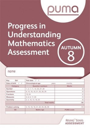 PUMA Test 8, Autumn PK10 (Progress in Understanding Mathematics Assessment)